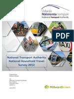 Household Travel Survey Full Report July 2013