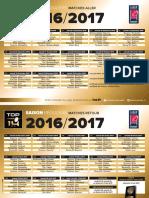 Calendrier 2016-2017 du Top 14