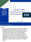 Application of UNDP's Capacity Development Process and Capacity Diagnostics Methodology