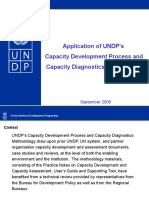 Application of UNDP's Capacity Development Process and Capacity Diagnostics Methodology