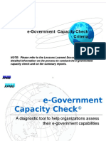 E-Government Capacity Check Criteria