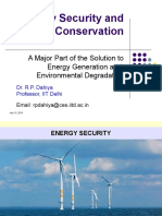Energy Security and Conservation