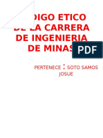 Codigo Etico de La Carrera de Ingenieria De