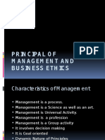 Principal of Management and Business Ethics
