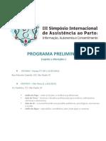 Programa SIaPARTo 2016