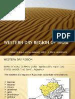 Landscape Resource study of hot Arid zone - of India