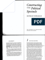 Edelman Constructing the Politica Spectacle