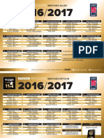 Calendrier Top 14 2016-2017