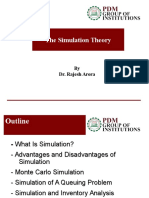 PDM simulation queuing theories ppt | Simulation | Monte Carlo Method