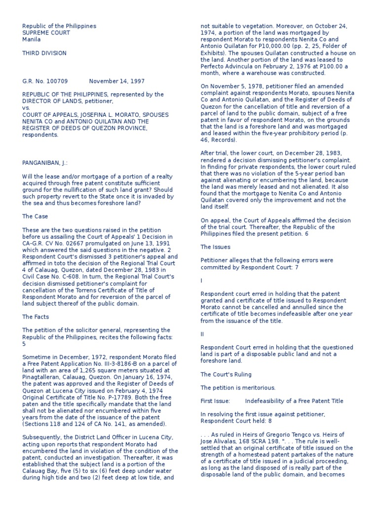 free patent vs homestead patent