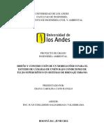 Diseño y Construcción de Un Modelo Físico Para El Estudio de Cámaras de Unión Bajo Condiciones de Flujo Supercrítico en Sistemas de Drenaje Urbano.