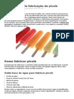 Curso Básico de Fabricação de Picolé