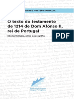Testamento de Afonso II de 1214 - Montero Santalha