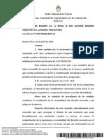 Distribuidora S.a. c Royal & Sun Alliance Seguros Argentina S.a. s Medida Precautoria