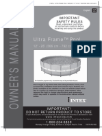 Intex Ultra Frame Pool Manual