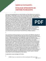 Diderot Jacques Le Fataliste Une Ontologie Spinoziste de l Ecriture Pluraliste 12 Pages