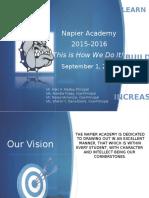 Dr.  Frank Napier, Jr. School of Technology Opening Day 2015-2016 Presentation