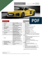 R8 Spyder 4.2 FSI 430 HP S Tronic Quattro 20160506