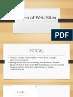 Types of Websites ppt