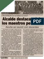 Satélite 06-07-09 Alcalde destaca rol de los maestros peruanos