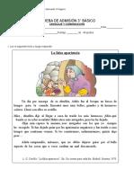 PRUEBA DE LENGUAJE Y COMUNICACCIÓN 3° BÁSICO