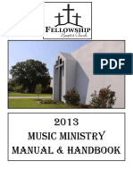 2013 Music Ministry Manual Handbook
