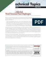 APA_TT-064 Deflection of Unblocked Wood Diaphragms