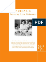 Curriculum Framework Learning Statement for Science
