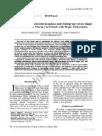 Efficacy of Combined Desferrioxamine and Deferiprone Versus Single 2009