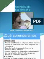 neonatologia adopcion del rol materno