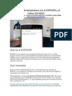 Nodo WiFi de Temperatura Con El ESP8266 y El Dallas DS18B20