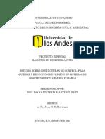 Estudio Sobre Estructuras de Control Para Quiebre y Reducción de Presión en Sistemas de Abastecimiento de Agua Potable