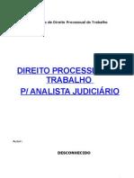 apostila - direito processual trabalho - concurso para analista judiciario(1)