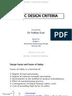 MECH206 - 2015-16 SUMMER - L14 - Static Design Criteria