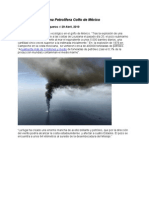 Accidente Plataforma Petrolífera Golfo de México