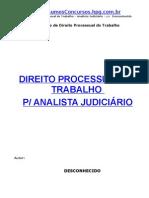 apostila - direito processual trabalho - concurso para analista judiciario