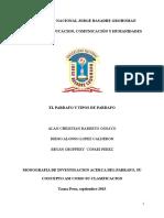 Monografia Del Parrafo y Tipos de Parrafo.