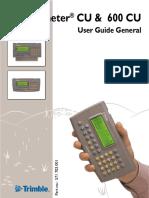 Manual de Geodimeter CU600 Trimble TS