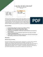 Base de Datos Relacional Y no relacional