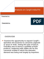 Case Study Analysis on Cargill India Pvt
