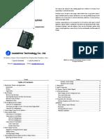 Manual Driver Motor de Passo Mesa de Teste M752m