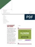 VR Headset QR Codes