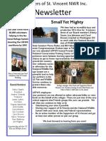 2016 St Vincent Island Friends First Half Newsletter