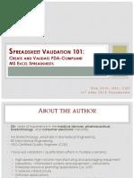 Spreadsheetvalidation101 - Createandvalidatefda-compliantms Excelspreadsheets