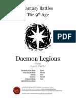 **Fandex** WHFB The Ninth Age Daemon Legions 1 0 0