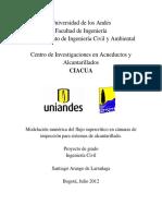Modelación Numérica Del Flujo Supercrítico en Cámaras de Inspección Para Sistemas de Alcantarillado.