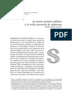 La nueva gestión pública y su personal estilo de gobernar..pdf