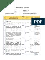 Programa de Obligaciones Financieras