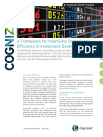 A Framework for Improving Operational Efficiency in Investment Banks