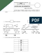 Evaluación Final de Matemática